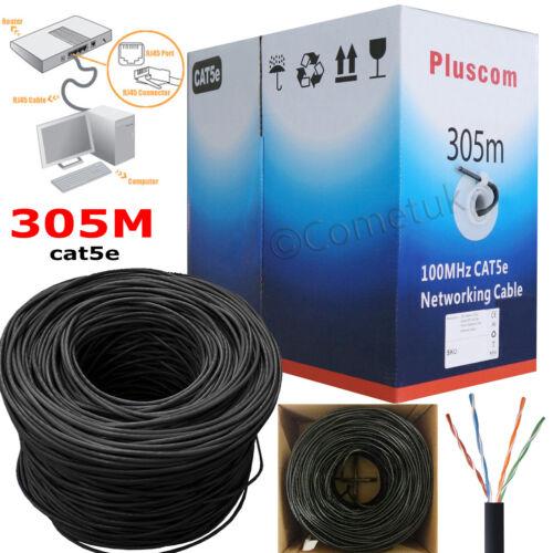 305M Cat5e Cat6 Ethernet Outdoor FTP//UTP Cable Tester Crimper PC Network Kit LOT