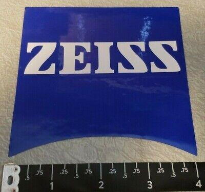 """Zeiss Optics Blue 2/""""x 2/"""" Decal Sticker OEM ORIGINAL"""