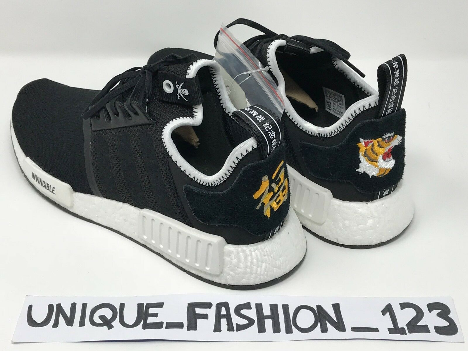 the latest 3f3a8 06472 ADIDAS CONSORTIUM NEIGHBORHOOD X INVINCIBLE NMD R1 UK 6 7 8 9 10 11 12 13  BLACK