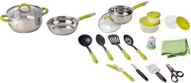 Camping brunner acero inoxidable cocinará utensilios de cocina Set camping ollas Omnibox 18+2