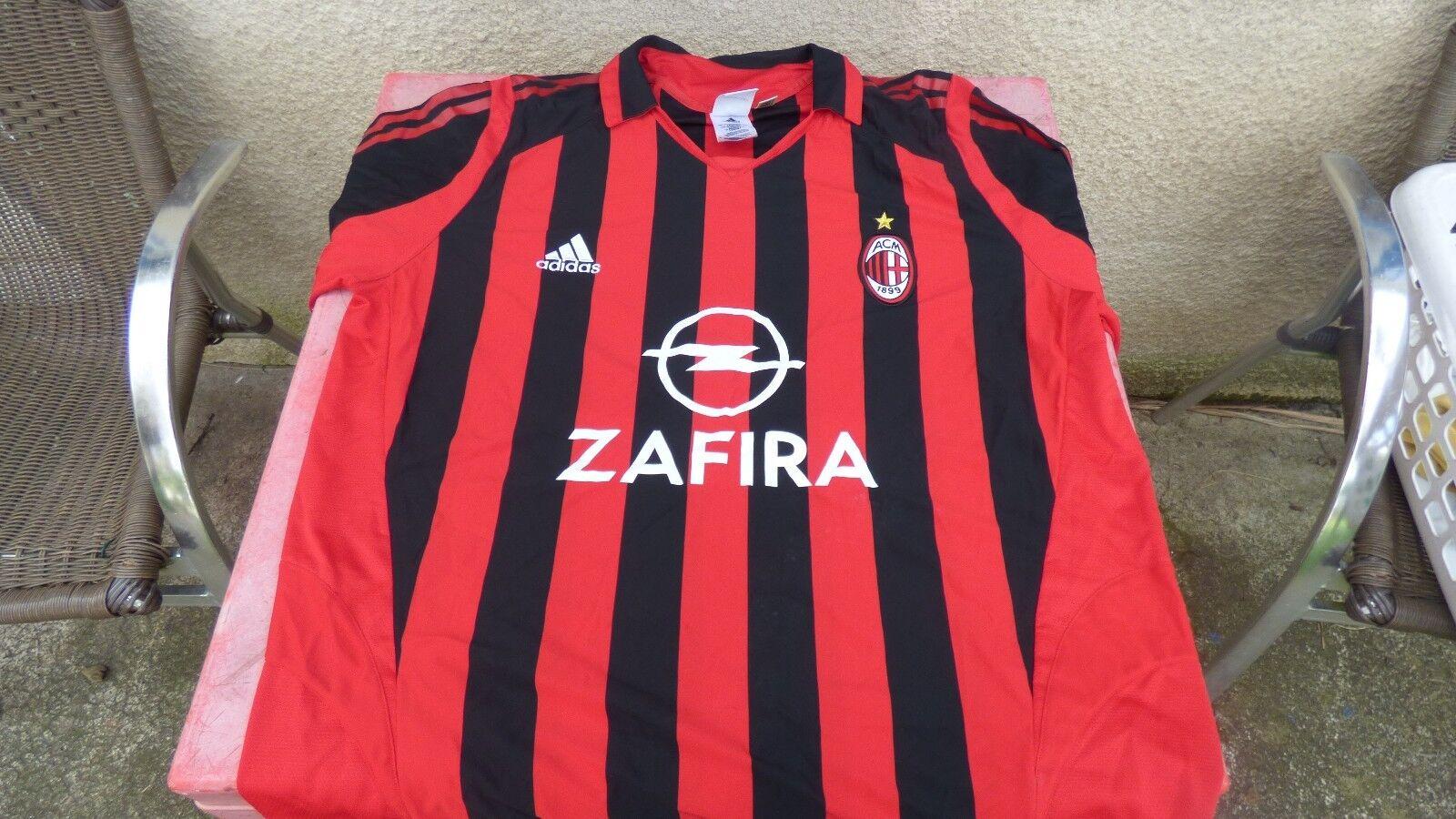 Fußballtrikot vintage Milan Adidas Zafira Zafira Zafira XL b377e0