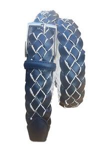 Cintura-unisex-Intrecciata-di-Pelle-foderata-in-cotone-alt-3-5-CM
