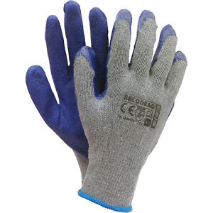 Arbeitshandschuhe 1 Paar Strick Mit Latexbeschichtung Schutzhandschuhe Top Xl GroßEr Ausverkauf Business & Industrie Handschuhe