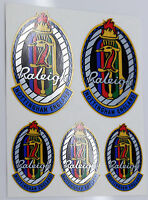 Raleigh multi-coloured heron Vintage style Head Badge Cycle Bike Stickers