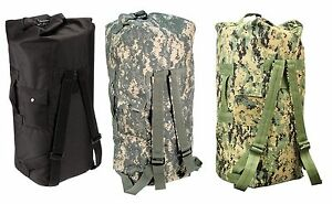 Enhanced Double-Strap Duffle Bags - Military Type Backpack Duffle ...