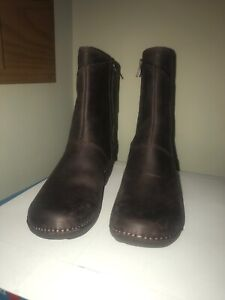 Emma Mid Boot Brown Leather - size