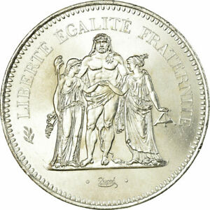 319268-Coin-France-Hercule-50-Francs-1977-Paris-MS-60-62-Silver