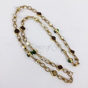 Auth-Chanel-1980s-Vintage-GRIPOIX-Poured-Glass-Pearl-Long-Gold-Chain-Necklace