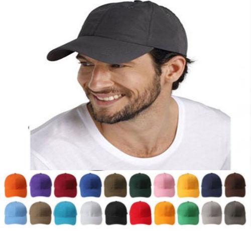 Unisex Sticker Plain Baseball Cap Solid Blank Curved Visor Hat Adjustable Solid^