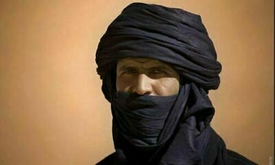 Details about  /Mauritanian African Long Tuareg Scarf Long Handmade Ethnic Turban White