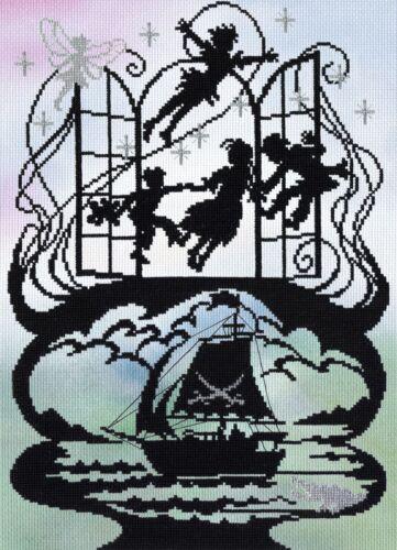 Bothy Threads XFT6  Peter Pan  Kit  Broderie  Point de croix compté  Aida