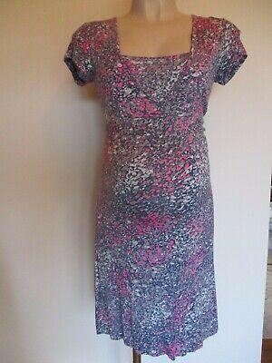 Diskret Mamalicious Maternity & Nursing Sarahlee Grey Print Tea Dress Size 8 10 12 14 16 Elegantes Und Robustes Paket