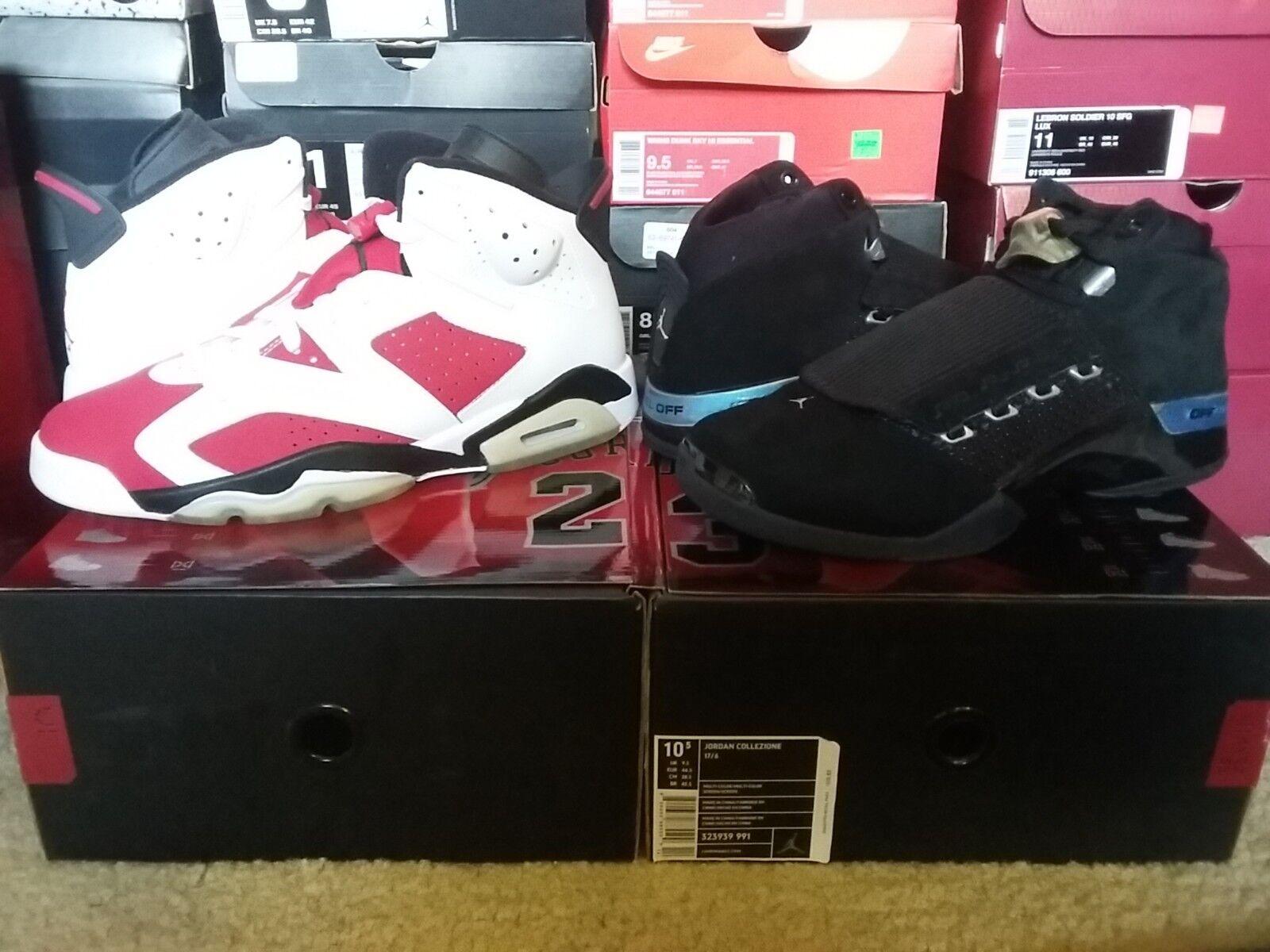 2008 Nike Air Jordan Collezione 17 6 VI XVII Retro CDP Countdown Pack 323939 991