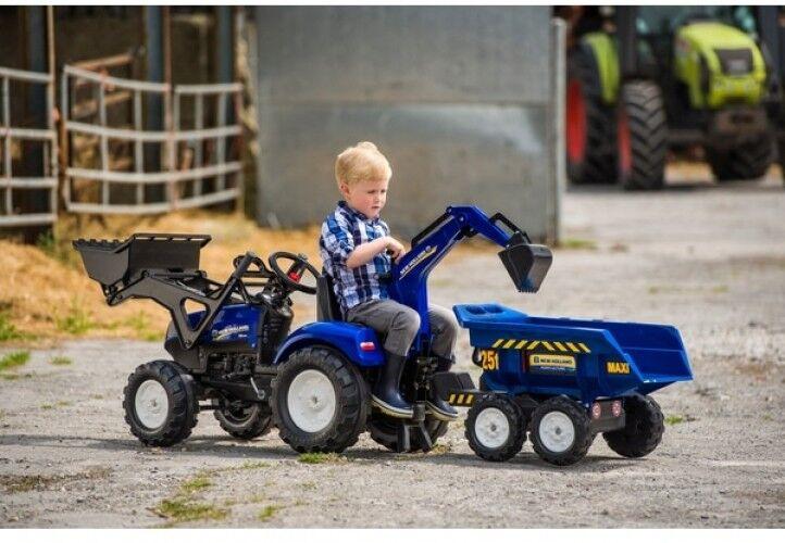 ahorra hasta un 70% New Holland Holland Holland T8 Tractor con Cochegador Frontal, Retroexcavadora Y Remolque  online barato