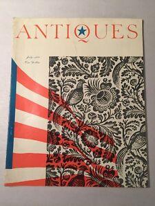 Vintage-ANTIQUES-Magazine-July-1960-American-Glass-amp-Folk-Art-English-Pewter