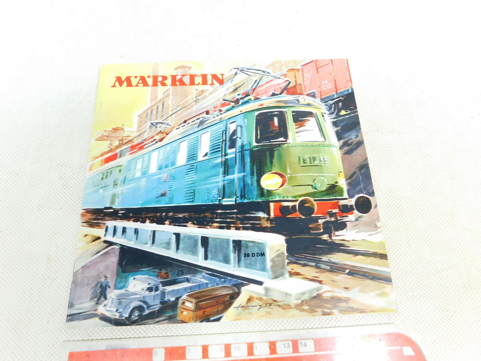 Bw291-0, 5  Märklin h0 00 catálogo 58 d dm sin cupón  metallbaukasten, etc.