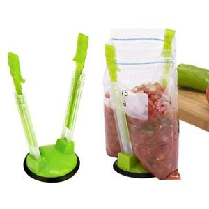 2Pcs-Hands-Free-Baggy-Rack-Clip-Non-Slip-Kitchen-Ziplock-Food-Storage-Bag-Holder