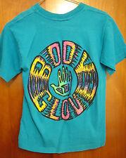 BODY GLOVE youth small T shirt surfing water-sports Redondo Beach 1991 dayglo