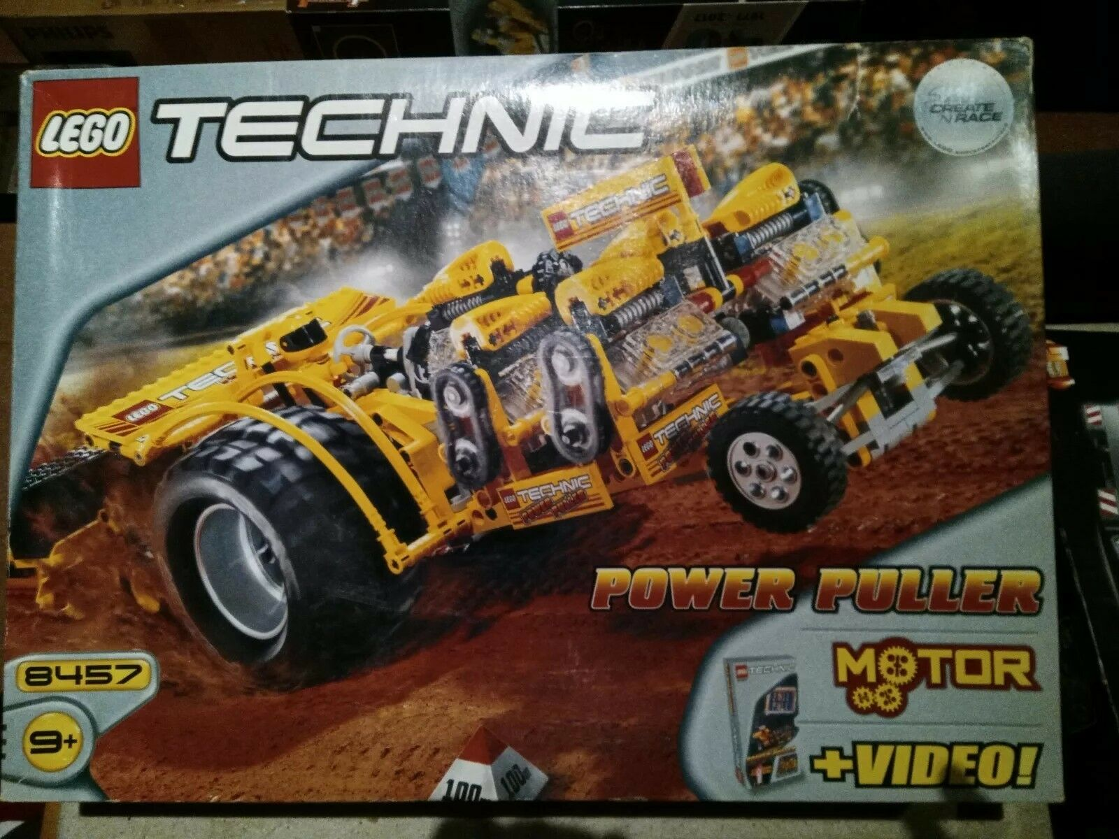 Neuer Lego Technic 8457 Power Puller mit VHS-KASSETTE   NEU & OVP - RARITÄT
