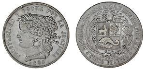 5-SILVER-PERUVIAN-PESETAS-5-PESETAS-PERUANAS-PLATA-PERU-1880-VF-MBC