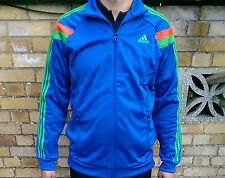 New Mens Original ADIDAS Blue Climalite Jacket TRACKSUIT top UK size M