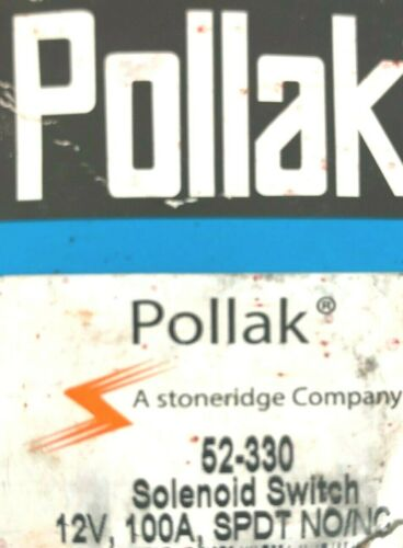 POLLAK SOLENOID SWITCH 52-330 12V 100AMP SPDT NO//NC Free Expedited Shipping!