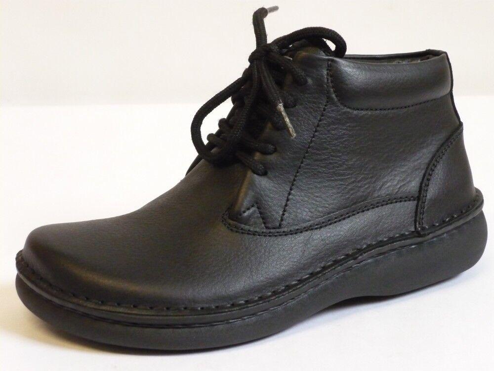 Footprints Perth Birkenstock FB 36 grasa botines de cuero negro normal nuevo