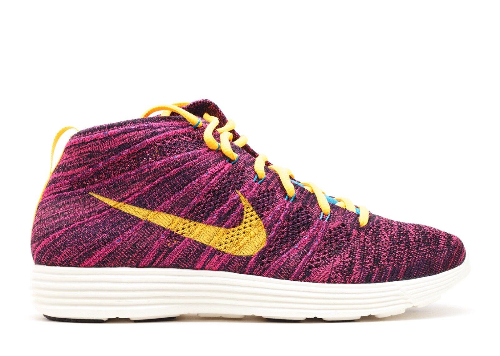 Nike Lunar Flyknit Chukka Mens sz. 11.5 554969-085 Grand Purple orange Deadstock