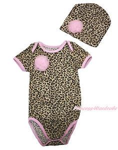 Bien Informé Newborn Baby Rosette Rose Bordure Léopard Une Pièce Body Combinaison & Chapeau Nb-12m-afficher Le Titre D'origine