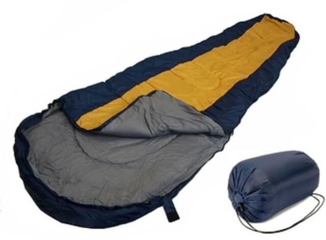 SLEEPING BAG MUMMY Type 8' Foot BLUE ORANGE 20+ Degrees with Carrying Bag NEW