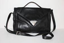 80er Vintage Leder Tasche Messenger Leather Bag Shopper Schultertasche Satchel