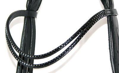 FSS DOUBLE Curve U SHAPE Crystal JET SQUARE WAVE Bling German Comfort Browband
