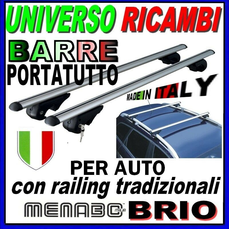 MENABO Barre PORTATUTTO Portapacchi Suzuki IGNIS dal 2016 in Poi con Railing CORRIMANO Tradizionali