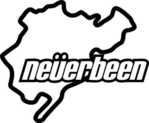Nurburgring NEVERBEEN X2 Vinyl Decal Stickers Window//Car//Bumper JDM Euro Dub