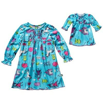 Dollie & Me Girl 7-14 and Doll Matching Nightgown Pajama Clothes American Girl