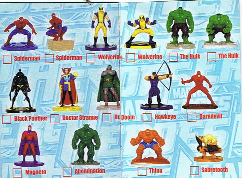 MARVEL HEROES serie completa 15 pezzi EDIBAS 2013
