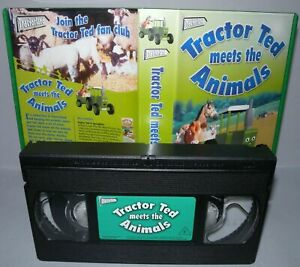 Tractor-Ted-Meets-The-Animals-Children-039-s-Vhs-Tape-amp-Case-Cert-E-VHS