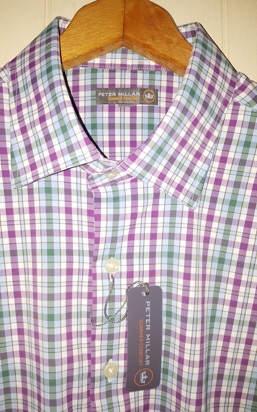 Peter Millar Crown Sport Button Shirt Men's Large NWT  Multi-color
