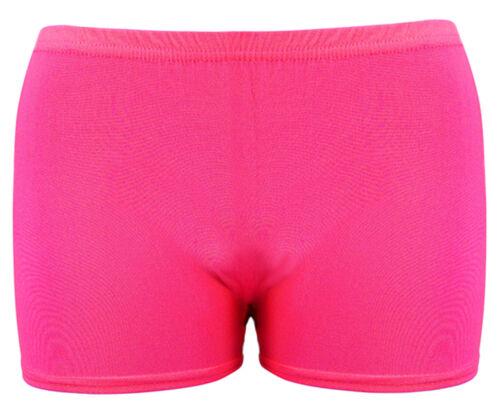Donna Jersey UV NEON Lycra Pantaloncini Hot Pants Dance Party Casual Club Gym