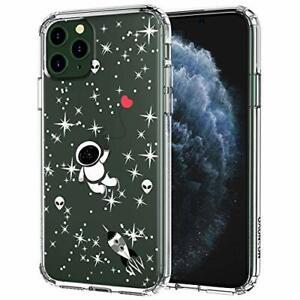 Dettagli su Cover iPhone 11 PRO, Spazio Trasparente con Disegni TPU Outer Space