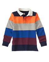 Gymboree Strait A Athletes Pieced Striped Rugby Top Size 5