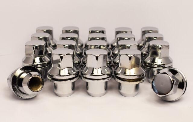 22mm Esagonale Dadi per Fissaggio Ruote Set di 20 x M14 x 1.5 Nero