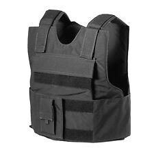 BLACK Police Force Bullet-Proof / Body Armor Vest Level IIIA 3A - Size M Medium