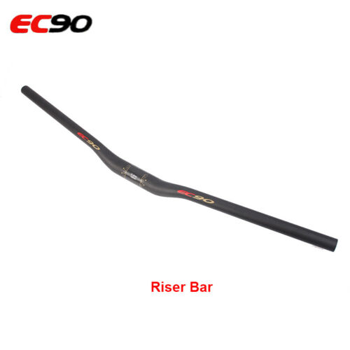 Bike MTB Riser Handlebar Mountain Bar Carbon Bars Cycling Black Flat 25.4//31.8mm