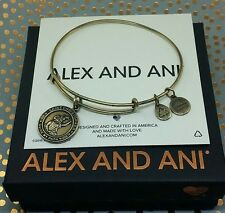 "Alex and Ani Saint Christopher ""Guide My Path"" Charm Gold Bangle Bracelet"
