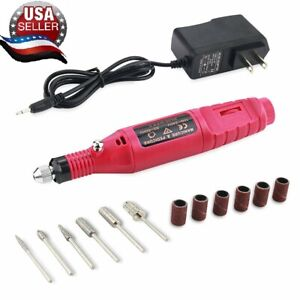 Electric-Nail-File-Art-Drill-File-Acrylic-Manicure-Pedicure-Portable-Machine-Kit