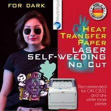 Heat Transfer Paper Laser Self Weeding Free Style For Dark A4 25 Sheets