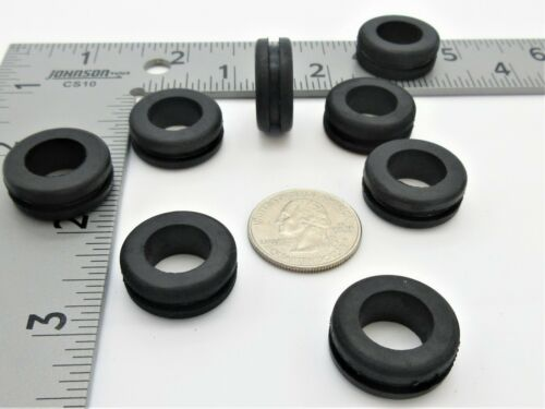 "7//8/"" OD 9//16"" ID Rubber Grommets for 3//4/"" panel hole Fits 1//16"" Panel"