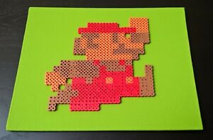 Perler Super Mario Bros For Nintendo Nes Handmade Pixel Art On