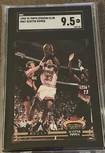 1992 Topps Stadium Club Scottie Pippen #367 SGC 9.5